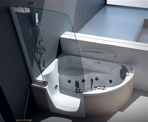 corner bath and shower combo modern corner bathtub with shower combo from teuco designtodesign magazine designtodesign
