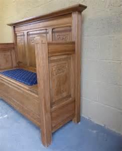 oak settle bench antiques atlas oak settle bench with storage