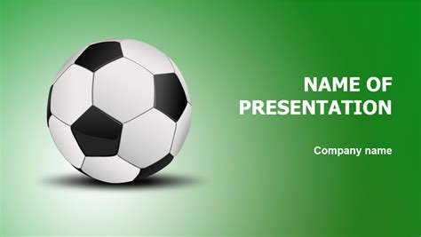 download free soccer ball powerpoint template for presentation