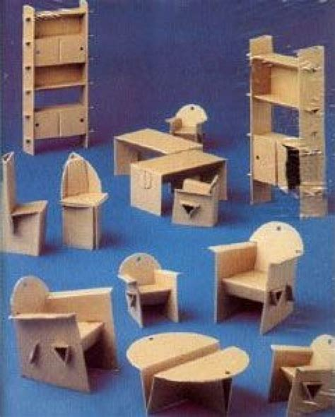 cardboard dolls house furniture templates diy household cardboard furniture ideas diy craft ideas