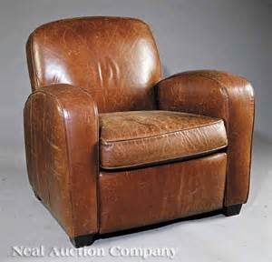 Club Chair Recliner by 0601 Deco Style Leather Reclining Club Chair Lot 601