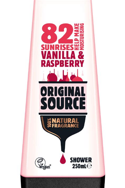 Rasberry Shower Gel 250ml review original source shower gel vanilla milk and