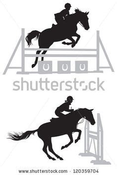 Lkw Aufkleber Sportpferde jumping silhouette clipart cliparthut free clipart