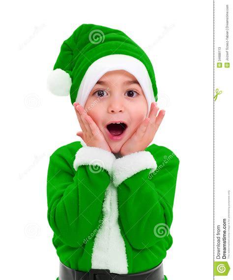 imagenes de santa claus verde ni 241 o peque 241 o en el traje verde de santa claus fotos de