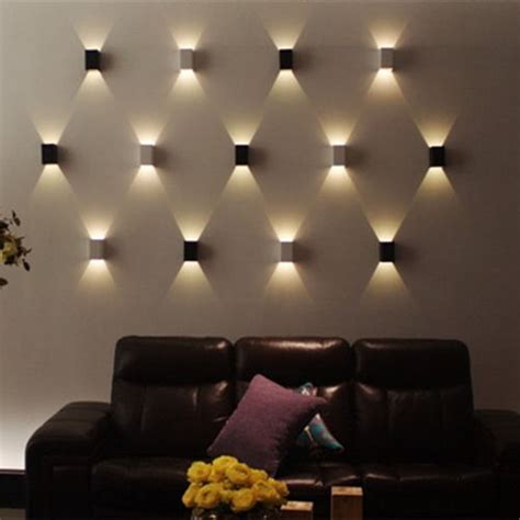 led wall sconces modern led wall light cubic up