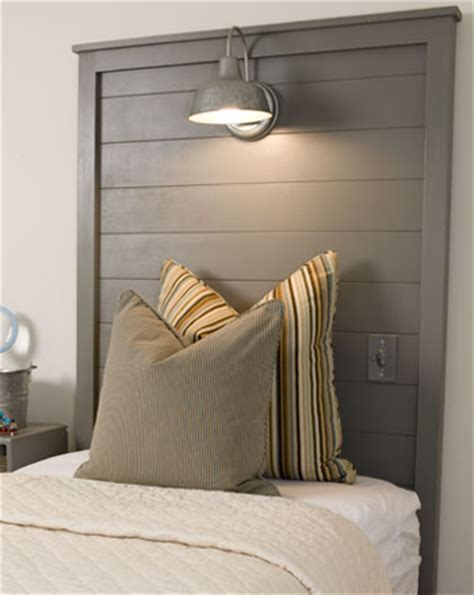 Light Wood Headboard A Large Headboard With Overhead Light Wood Headboard Industrial And Pendants