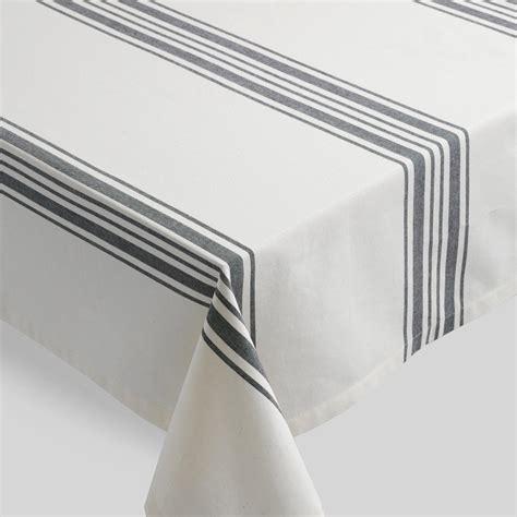Striped Tablecloth black villa stripe tablecloth world market