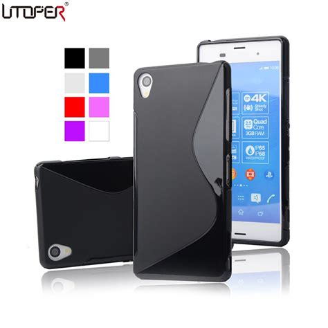 Back Soft Sony Xperia Z3 Mini Slim Cover Ume Jelly Ultra Thin s line anti skiding gel tpu slim soft matte for sony xperia z3 l55t d6603 d6643 cell phone