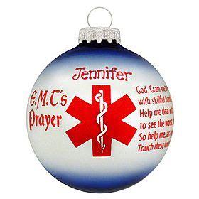 christmas decorations invocation e m t s prayer ornament i this ornaments