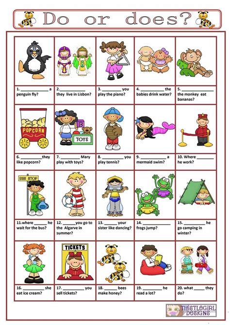 do does and did in questions youtube questions with do or does worksheet free esl printable