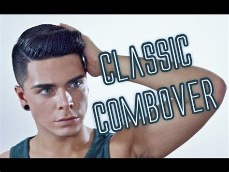 how to do a comb over with curly hair men s hairstyle tutorial classic combover youtube