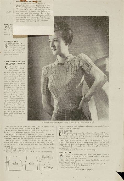 1940s knitting patterns 1940s knitting patterns and albert museum