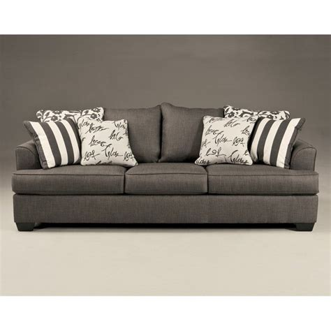 ashley microfiber sofa signature design by ashley furniture levon microfiber sofa