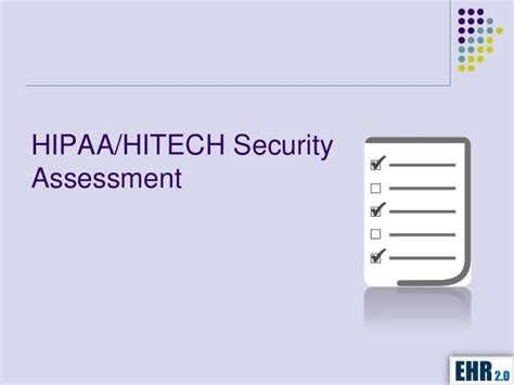hipaa hitech security assessment