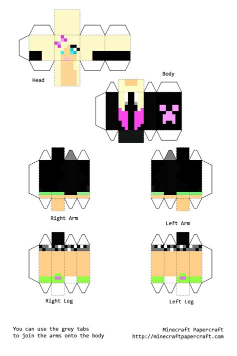 Paper Crafts For Minecraft - papercraft minecraft skins buscar con