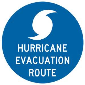 Hurricane evacuation route sign nhe 9467 emergency response