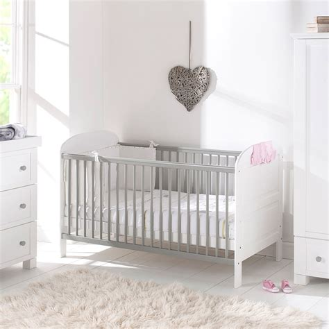 grey toddler bed baby toddler cot bed in grey and white angelina design