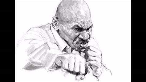 Sketches Vs Procreate by Mike Tyson Digital Sketch On Pro Apple Pencil