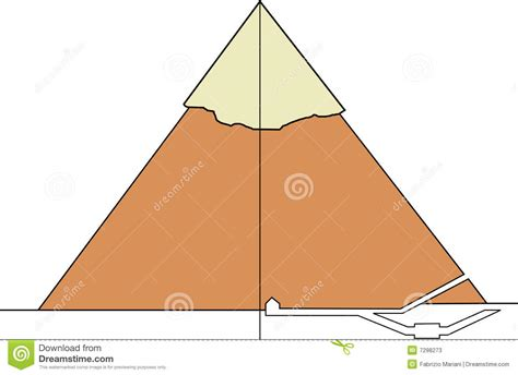 section of pyramid section of a real pyramid stock photos image 7298273