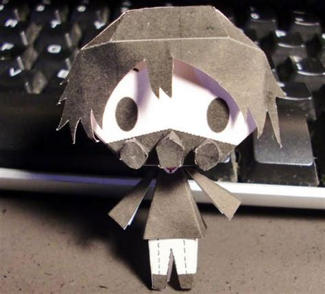 Gas Mask Papercraft - d gray chibi sakurai anti gas mask free paper
