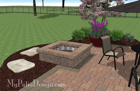 patio designs with pit diy square patio design with pit plan