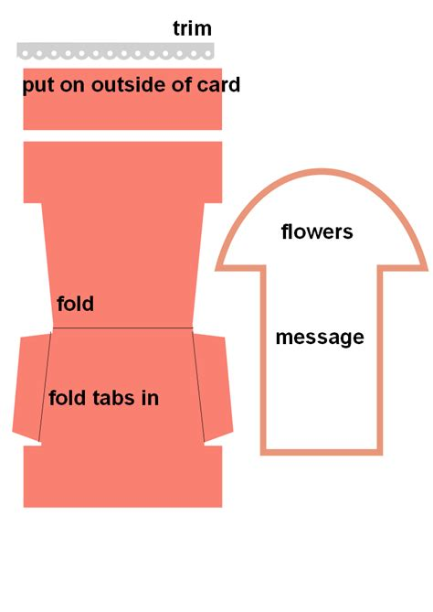 potted flower card templates pin do a paper crafts em birthday cards flower pots