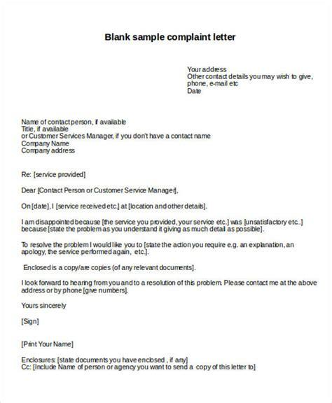 Evaluation Complaint Letter 54 complaint resolution letter employee complaint
