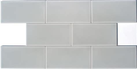 lyric artisan series 3 x 6 glazed ceramic subway tile in monaco gray