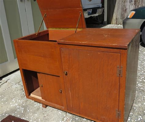 Mahogany Stereo Cabinet by An Stereo Cabinet Is Transformed Sweet Cottage
