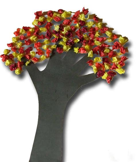 Tissue Paper Tree Craft - nothing but monkey business fall a colorful season