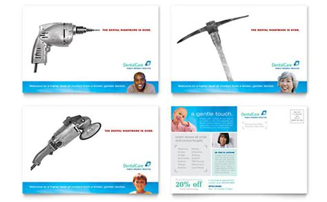 Dentist Postcard Templates Medical Health Care Dental Postcards Templates