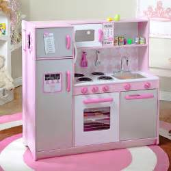 Play kitchen with 60 pc food set 53287 play kitchens at hayneedle