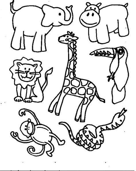 Printable Coloring Pages Jungle Animals | safari animals coloring pages az coloring pages