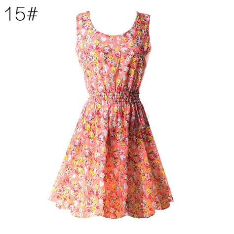 Summer Dress Pantai Sundress Mini Dress Sleeveless Dress Hmd Ru summer chiffon sleeveless sundress floral tank mini dress m ebay