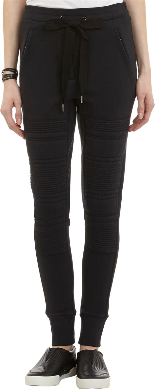 Jogger Pant Rib Black 3 1 phillip lim ribbed knee panel jogger in black lyst