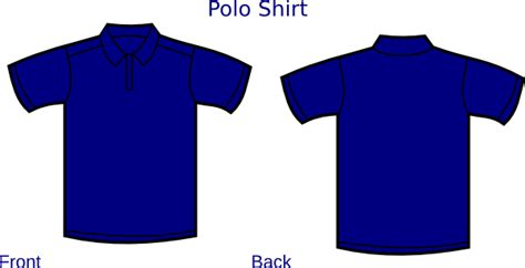 The Gallery For Gt Blue Polo Shirt Front And Back Blue Polo Shirt Template