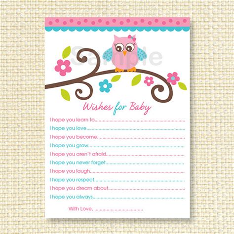 wishes for baby printable template 4 best images of printable wishes for new baby printable