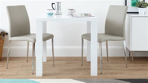 Kitchen Table Sets White Modern White Gloss Kitchen Dining Set Square Table And Modern Chairs
