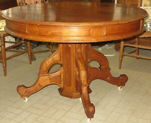 large antique eastlake  victorian cherry wood dining