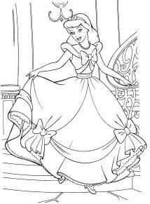 Cinderella Coloring Book Pages Disney 8588