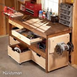 build a tool bench workbench plans workbenches the family handyman