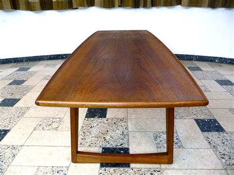 boat table tops for sale danish teak coffee table with boat shaped top 1960s for