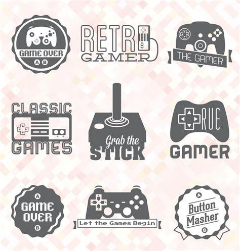 videospiel schlafzimmer fototapete vektor set retro videospiel etiketten und