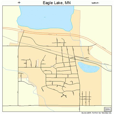 eagle lake minnesota street map 2717378
