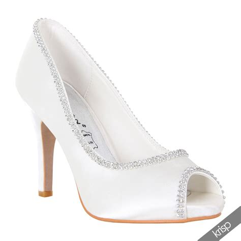 damen pumps high heels wei 223 strass glitzersteine wei 223