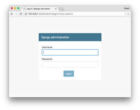 django creating a login page planet python