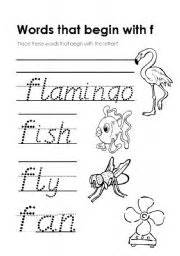 worksheet words that begin with f