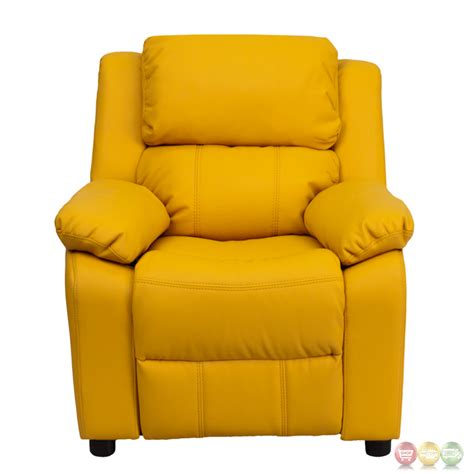 yellow recliner deluxe heavily padded contemporary yellow vinyl kids