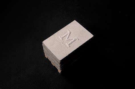 concrete business cards murmure project concrete business cards
