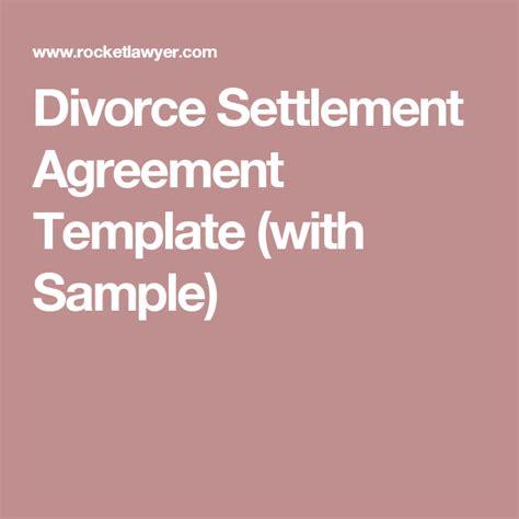 Divorce Settlement Agreement Letter Uk divorce settlement agreement template with sle diy